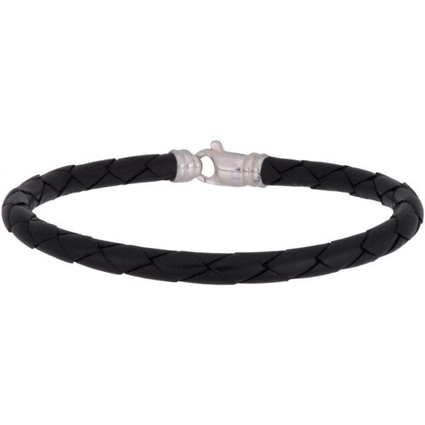 Leather Bracelet, Four Strand, Black