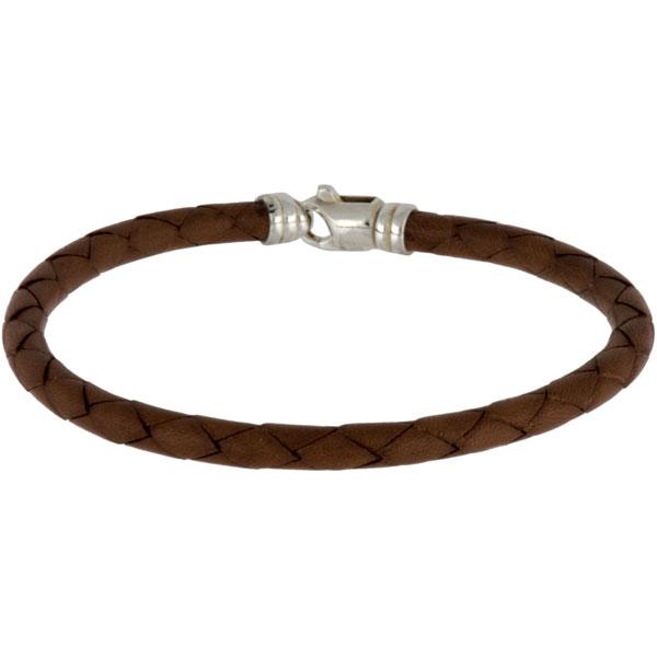 Leather Bracelet, Four Strand, Saddle Tan