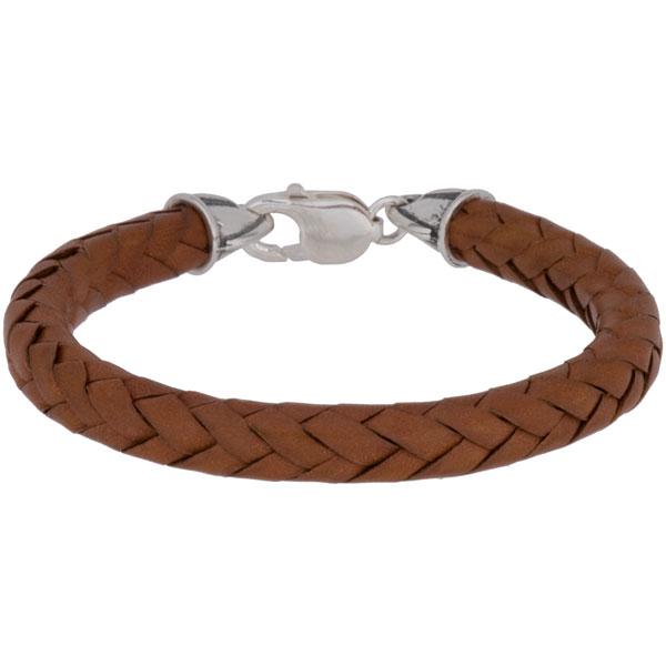 Leather Bracelet, Eight Strand, Saddle Tan