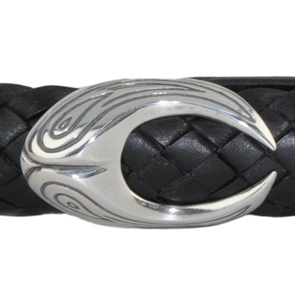 Black Snake Belt, Close-up of Buckle