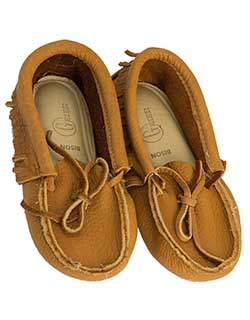 Low Bison Leather Moccasin