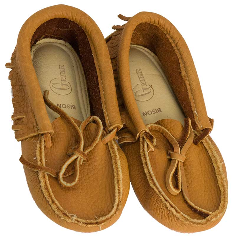 Low Bison Leather Moccasins
