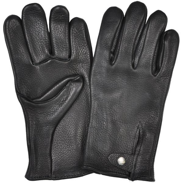 Black Elkskin Motorcycle Glove