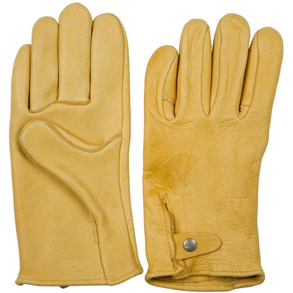 Gold Elkskin Motorcycle Glove