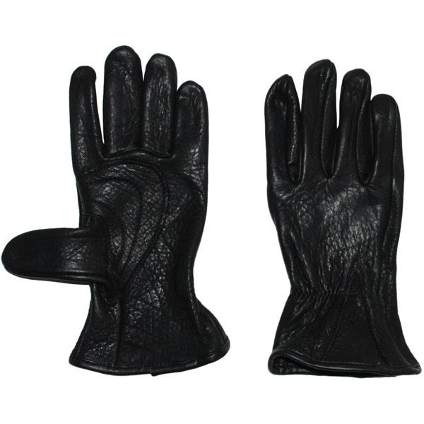 Bison Leather Gloves, Black