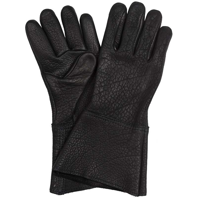 Bison Leather Gauntlet, Black