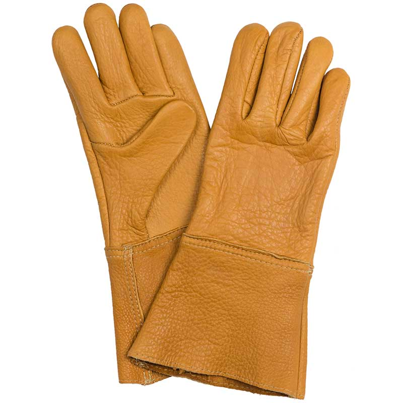 Gold Bison Leather Gauntlet