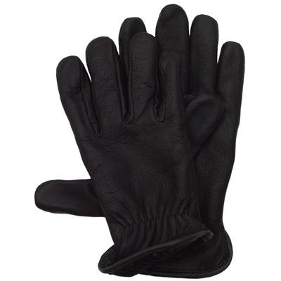 Deerskin Wool Lined Glove, Black