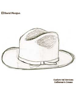 Custom Hat Service, Cattleman's Crease