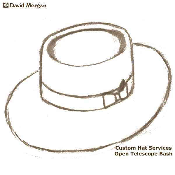 Custom Akubra Hat Services, Open Telescope Bash