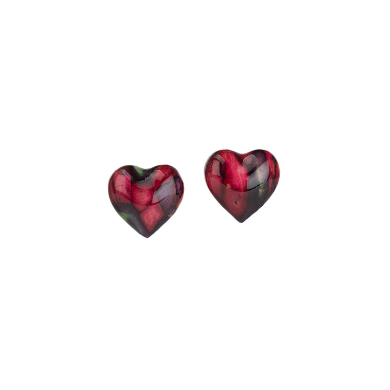 Heathergem Heart Earrings, Post