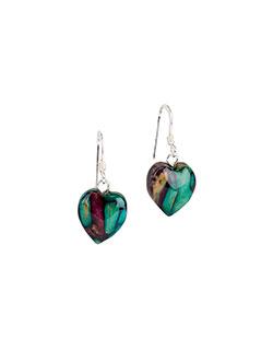 Heathergem Heart Earrings, Fishhook
