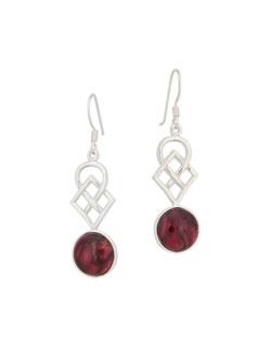 Heathergem Earrings with Knotwork