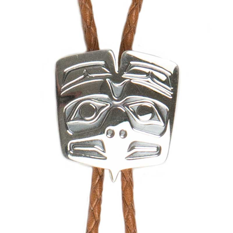 Extra Long Haida Eagle Bolo Tie