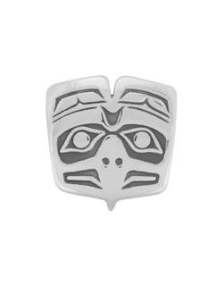 Haida Eagle Bolo Tie Slide, Sterling Silver