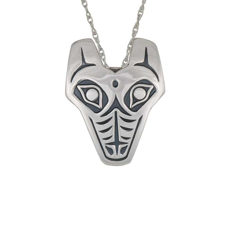 """Wolf Pendant, Sterling silver with 24"""" sterling silver chain"""