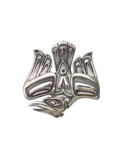 Scolding Raven Pin