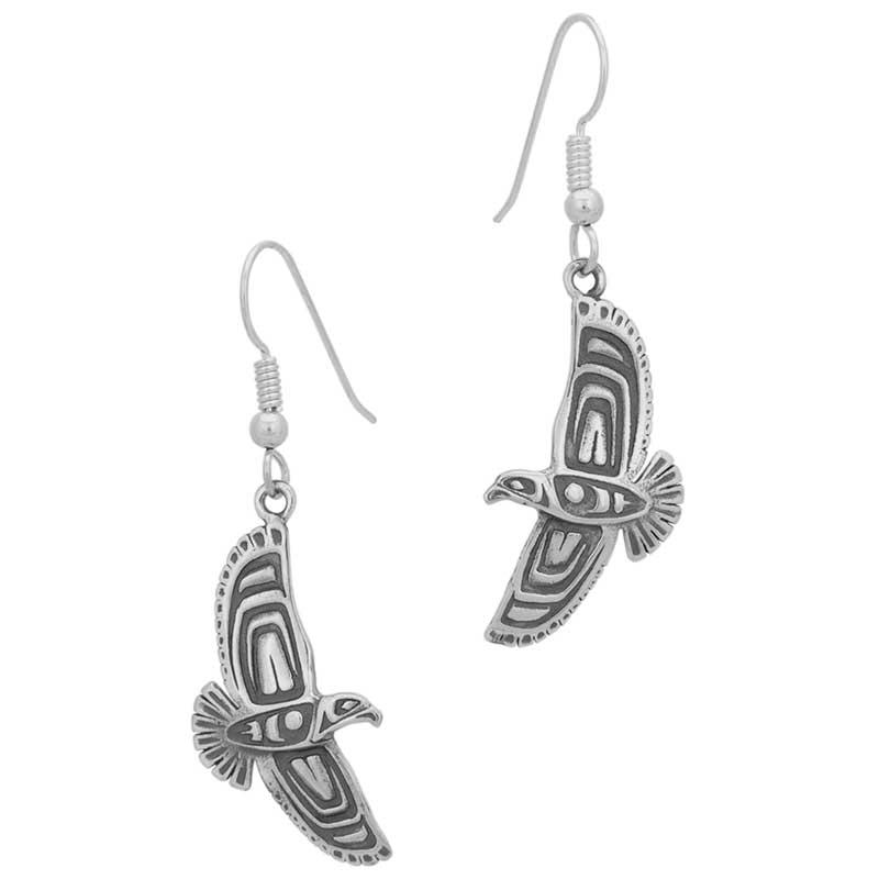 Soaring Eagle Earrings, Sterling Silver