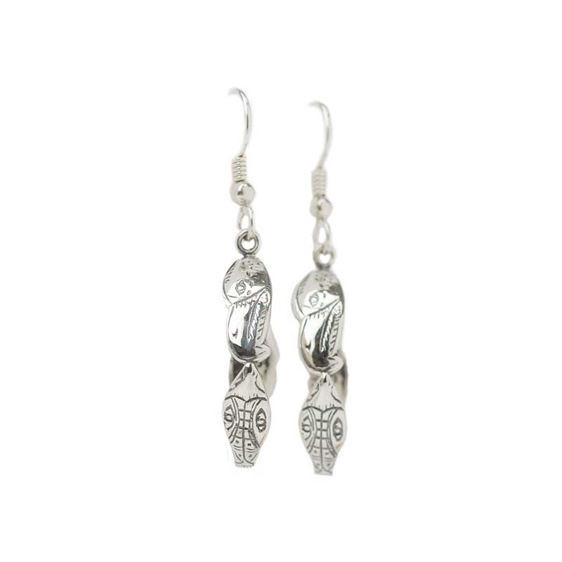 Lovebirds Hoop Earrings
