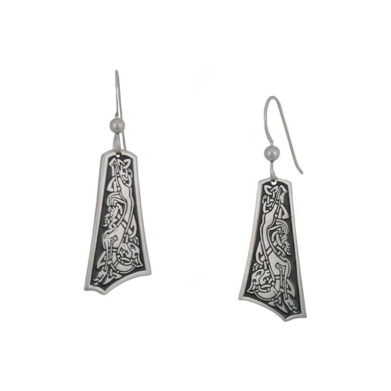 The Goddess Hound Earrings, Sterling Silver