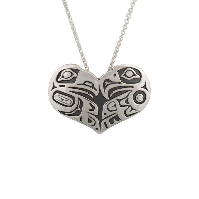 Lovebirds Necklet, Sterling silver, by Odin Lonning