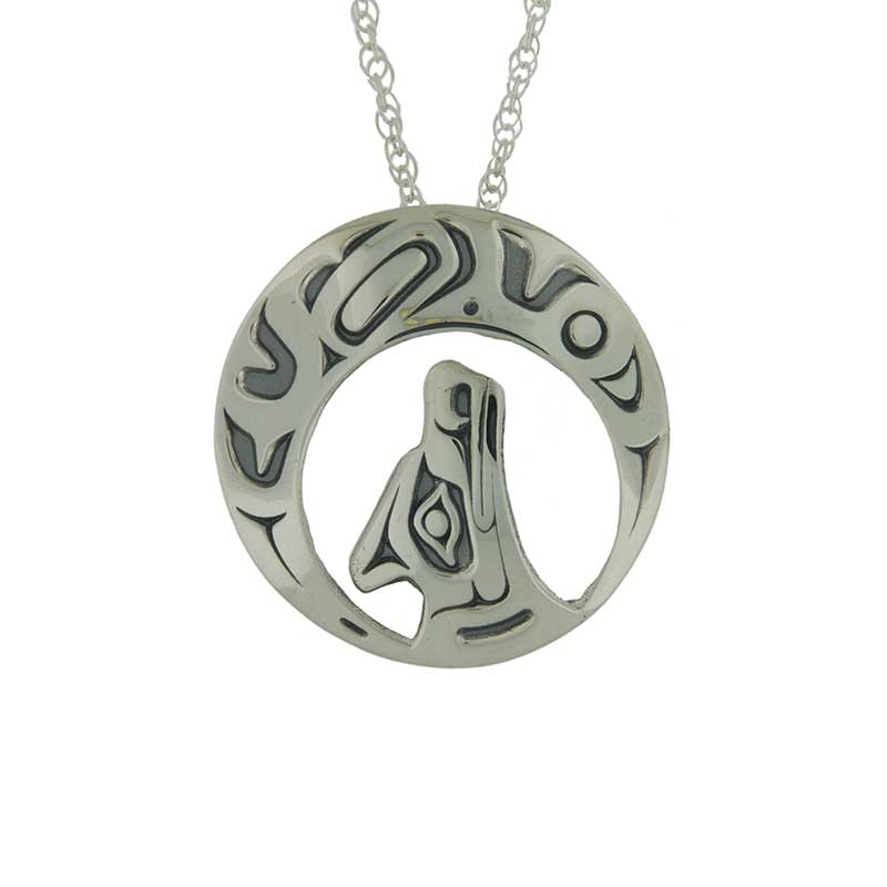 Night Song Pendant, Sterling silver