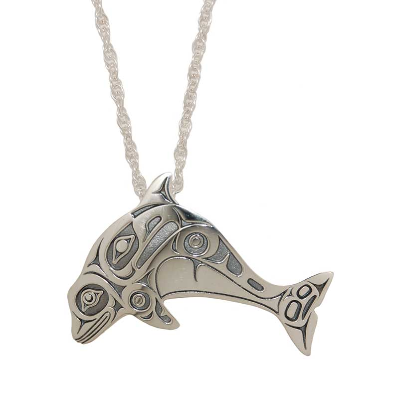 Dall's Porpoise Pendant, Sterling silver, by Odin Lonning