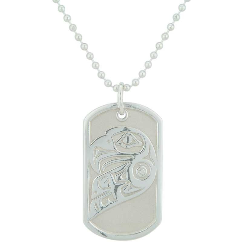 Lovebirds (Eagle) Dog Tag, Sterling Silver