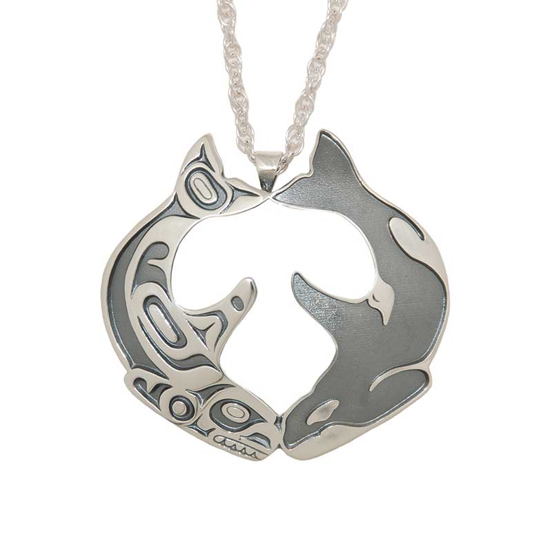 Southern Resident Tribute Pendant, Sterling silver, by Odin Lonning