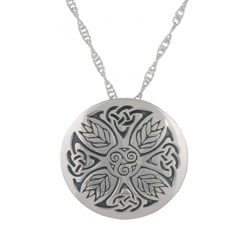 Cross of Wheat Pendant, Sterling Silver