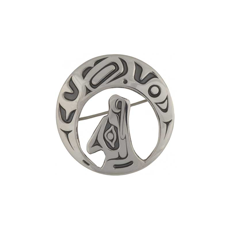 Night Song Pin, Sterling Silver