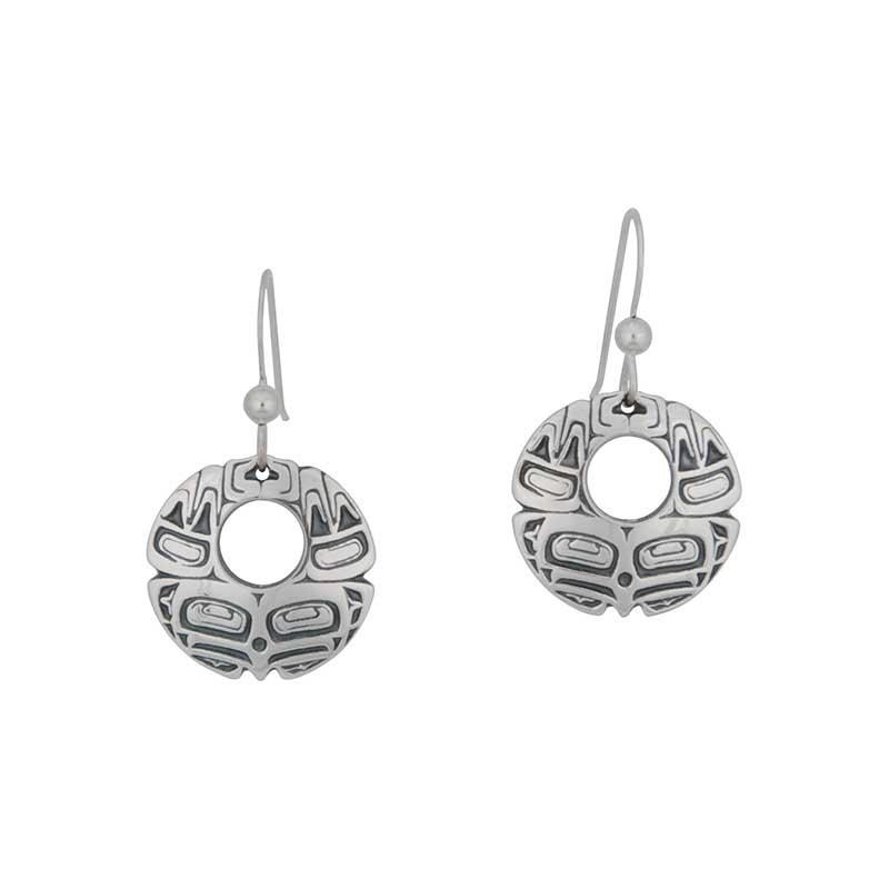 Eagle Earrings, Sterling Silver, Fishhook