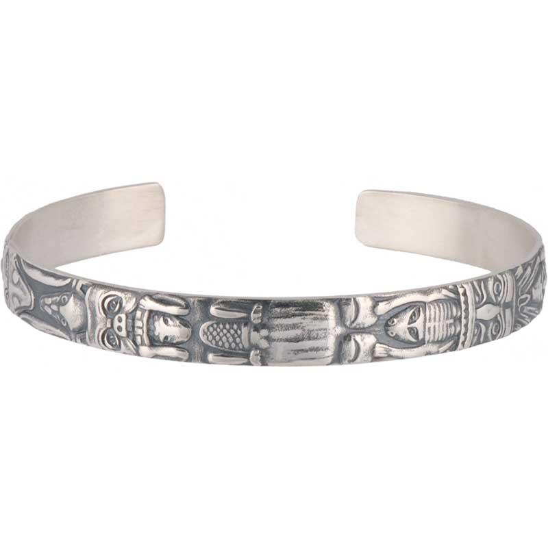 Totem Bracelet, Sterling Silver