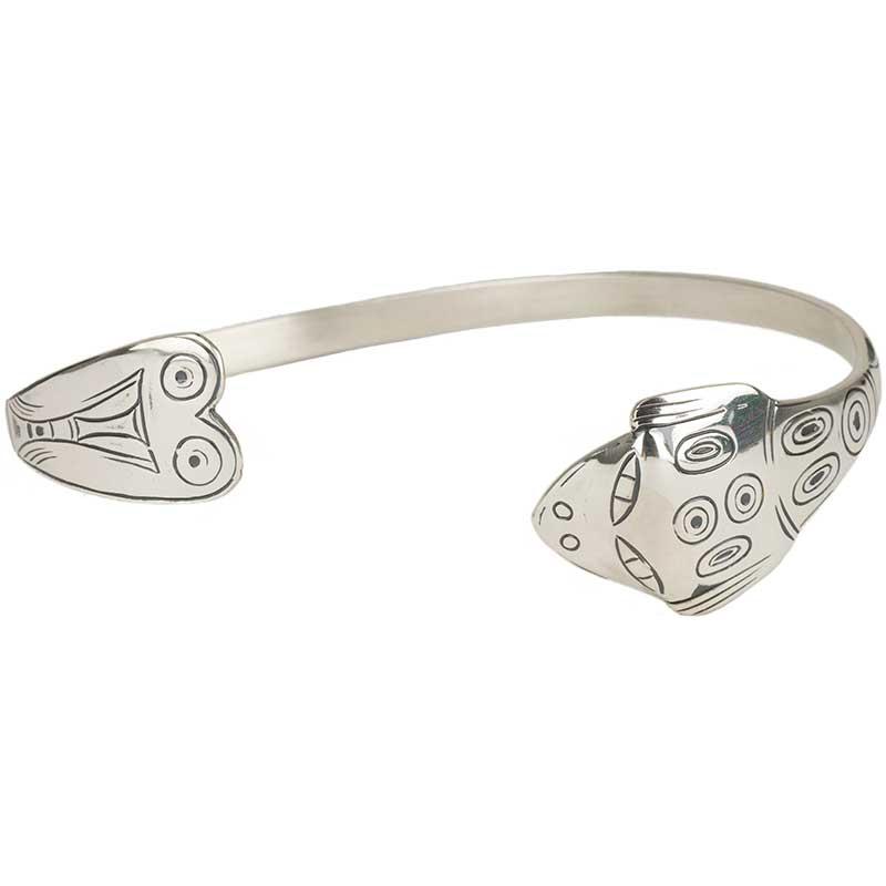 Frog Trade Bracelet, Sterling Silver