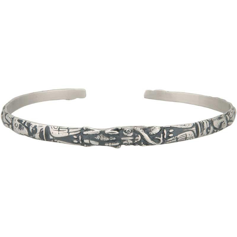 Narrow Totem Bracelet, Sterling Silver