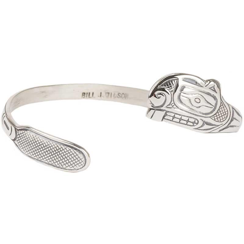 Beaver Trade Bracelet, Sterling Silver