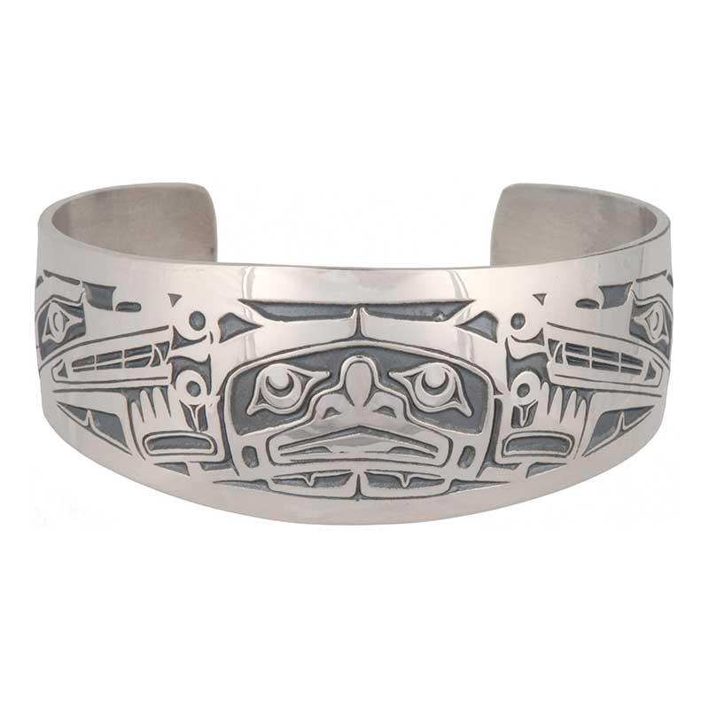 Sisiutl Bracelet (Slim Wrist), Sterling silver
