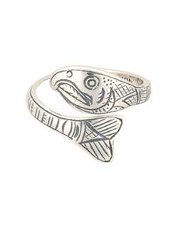 Salmon Ring, Sterling Silver