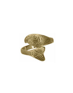 Salmon Ring, 14 kt. Gold
