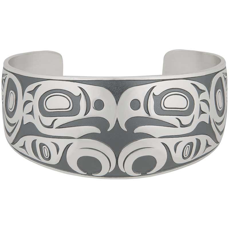 Tsimshian Eagle Bracelet, Sterling Silver