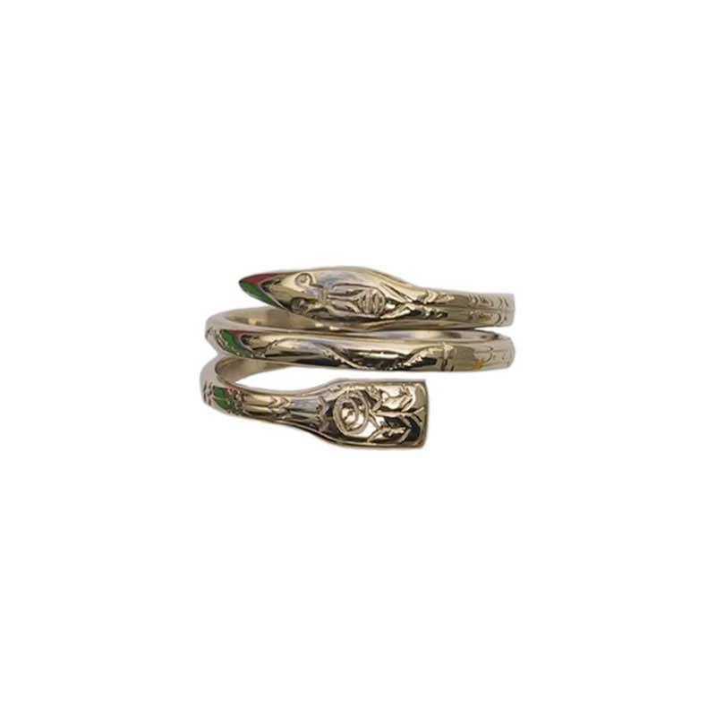 Narrow Raven Ring, 14 kt. Gold