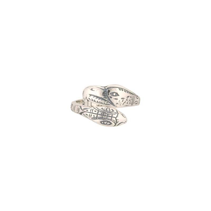 Lovebirds Ring by Bill Wilson, Sterling Silver
