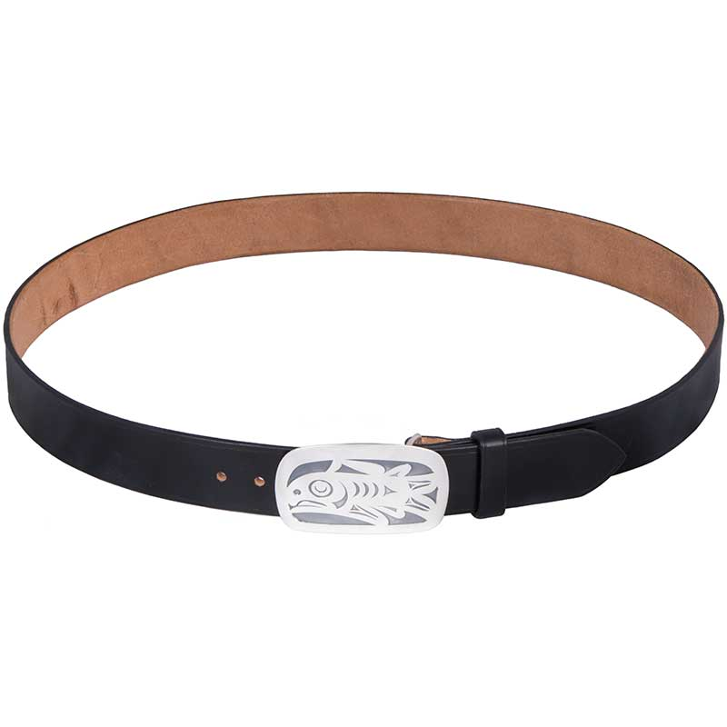 Salmon Buckle, Large, shown on No. 803 Bridle Leather Belt