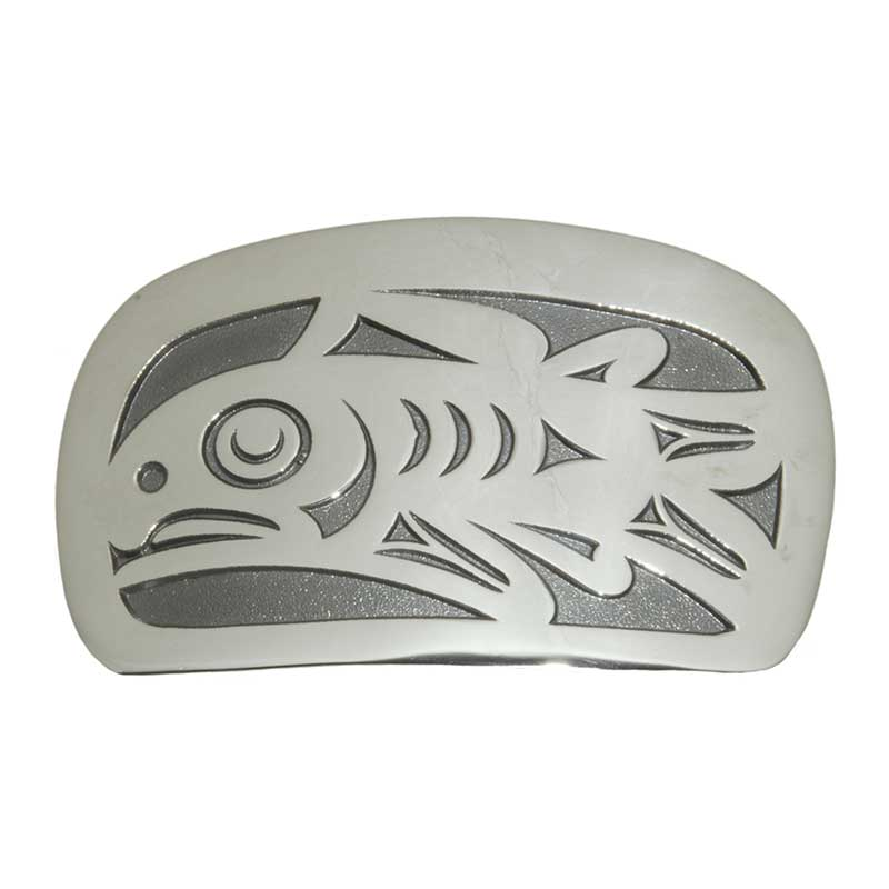 Salmon Buckle, Sterling Silver