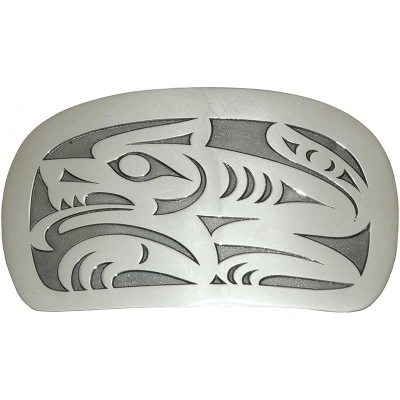 Wolf Buckle, Sterling Silver
