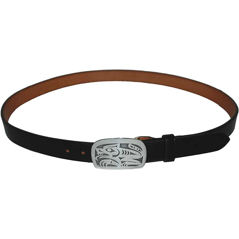 Wolf Buckle, shown on No. 801 Bridle Leather Belt