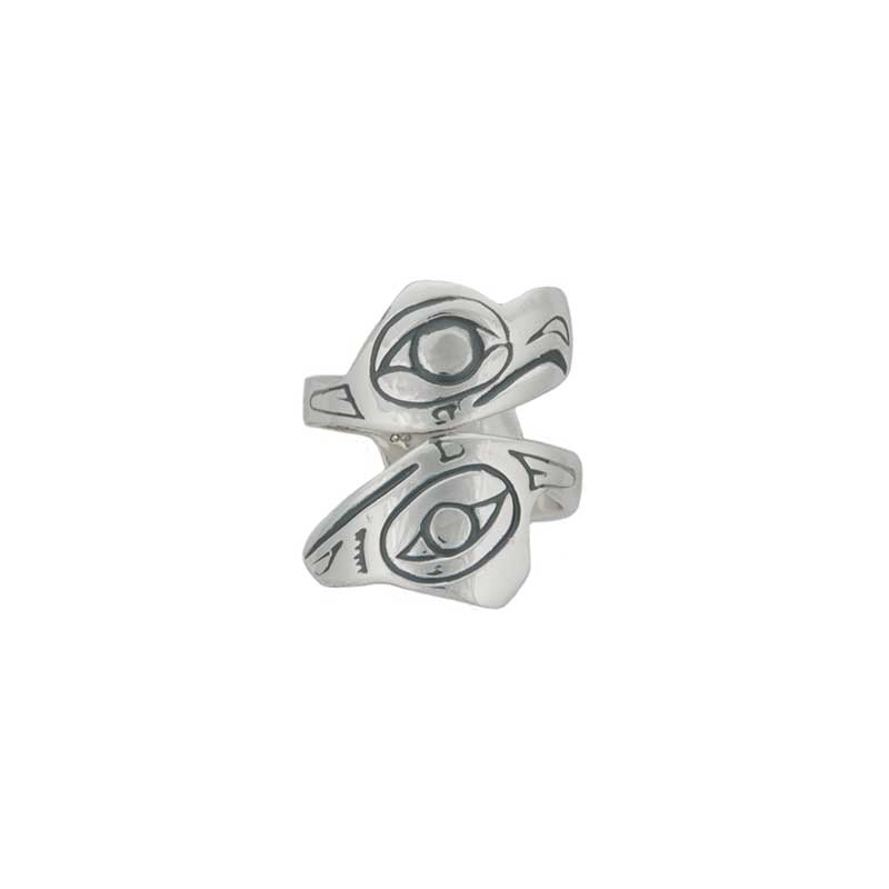 Lovebirds Ring, Large, Sterling Silver.  This ring adjusts readily from about size 7 to size 12.