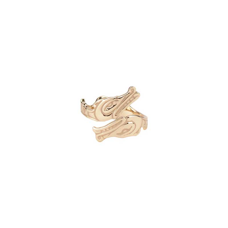 Sisiutl Ring, 14 kt. Gold