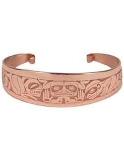 Emerging Mankind Bracelet, Copper