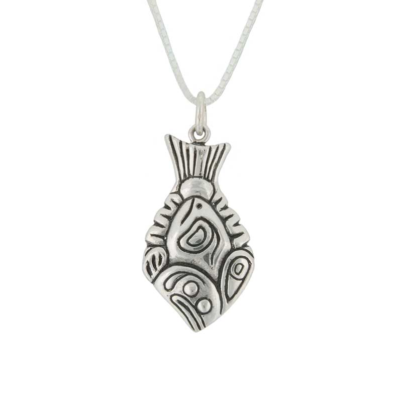 Halibut Pendant by Paul Wagner, Sterling Silver